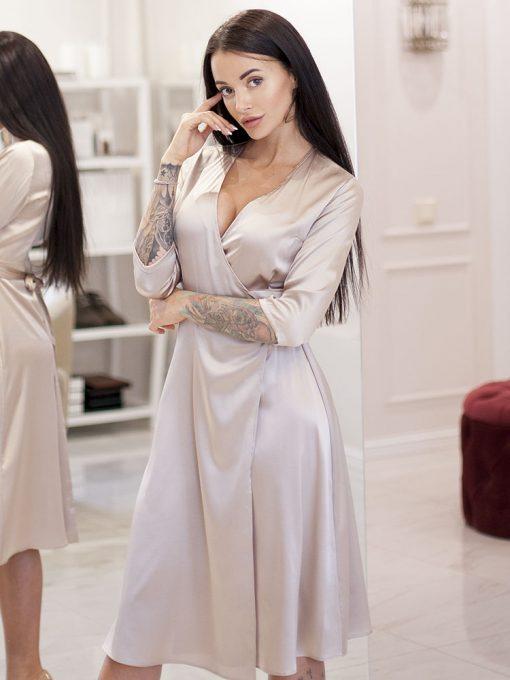 шелковый халат платье