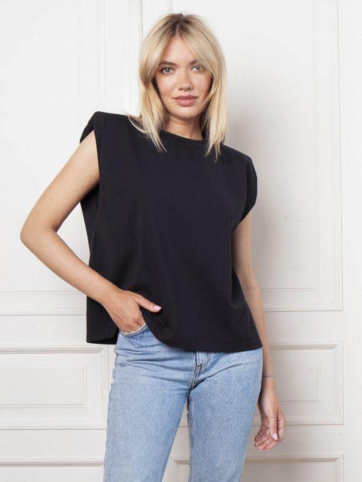 футболка женская черного цвета