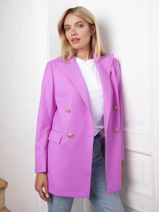 Женский пиджак розового цвета